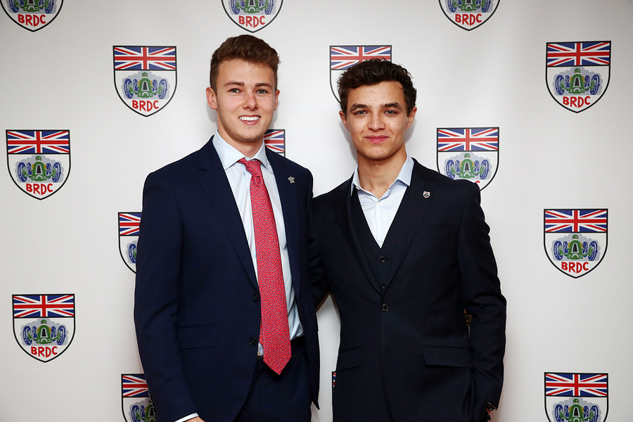 Phil Hanson and Lando Norris at the BDRC Awards